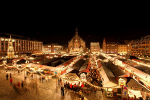 Der Nürnberger Christkindlesmarkt (Bildnachweis: Steffen Riese - www.steffenriese.de)